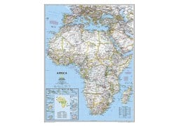 """Africa Classic Wall Map 24"""" W x 30.75"""" H"""