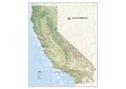 California Wall Map, laminated