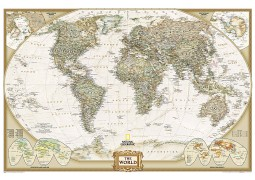 "World Executive Wall Map Poster - Laminated 36"" W x 24"" H"