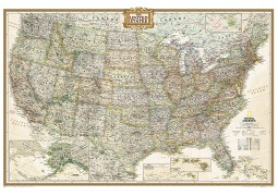 United States Executive Wall Map (Poster Size)