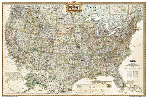 Buy US Wall Map Poster Size (Laminated)