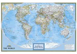 World Classic Personalized Map by National Geographic