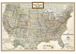 United States Executive Wall Map, Personalized