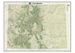 "Colorado Wall Map 41""W x 31""H"