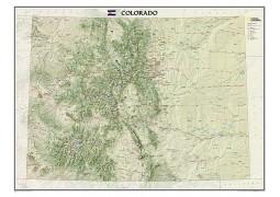 Colorado Wall Map, laminated