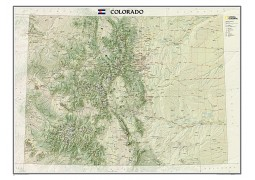 "Colorado Wall Map, laminated 41""W x 31""H"