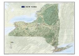 New York Wall Map, laminated
