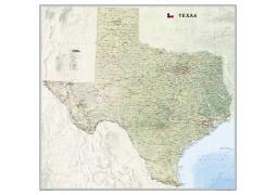 Texas Wall Map, laminated