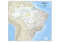 Brazil Classic Wall Map, Laminated