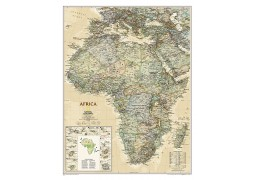 """Africa Wall Map 24"""" W x  31"""" H"""