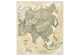 Asia Executive Wall Map, laminated
