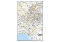 Afghanistan and Pakistan Wall Map, Laminated