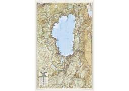 Lake Tahoe Basin Wall Map (Laminated)