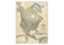 "North America Executive Wall Map 23.5""W x 30.25""H"