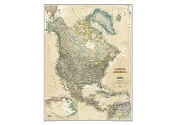 "North America Executive Wall Map, laminated 23.5""W x 30.25""H"