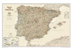 Spain and Portugal Executive Wall Map, Laminated
