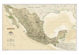 Mexico Executive Wall Map, laminated