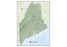 Maine Wall Map (Laminated)