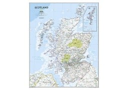 "Scotland Classic Wall Map 46""W x 30.5""H"