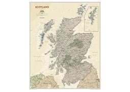 Scotland Executive Wall Map, Laminated