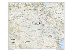 Iraq Classic Wall Map, laminated