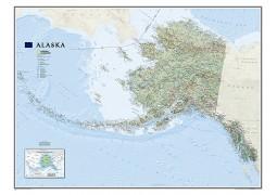 Alaska Wall Map, Large (Laminated)