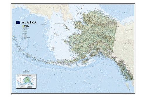 Alaska Wall Map, Large (Laminated)