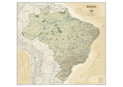 Brazil Executive Wall Map