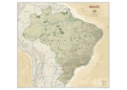 Brazil Executive Wall Map, Laminated