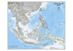 Southeast Asia Classic Wall Map, Laminated