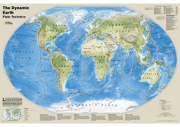 "The Dynamic Earth Plate Tectonics Wall Map 36"" W x 24"" H"
