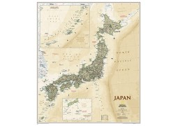 "Japan Executive Wall Map, Laminated 25""W x 29.25""H"