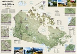 Canada National Parks Wall Map, Folded and Polybagged