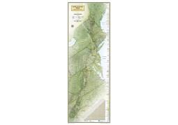 Appalachian Trail Wall Map  Boxed