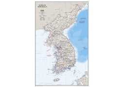 Korean Peninsula Classic Wall Map, Laminated