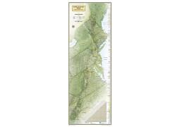 Appalachian Trail Wall Map  Laminated