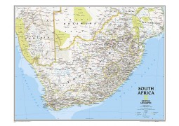 South Africa Classic Map, Laminated
