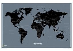 "Modern World Map 36""W x 24""H"