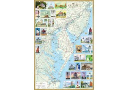 Mid-Atlantic Lighthouses map, laminated