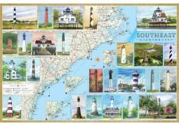 Southeast USA Lighthouses, laminated