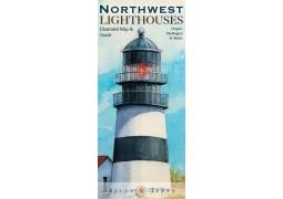 Northwest USA Lighthouses map, fold