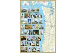 Northwest USA Lighthouses laminated