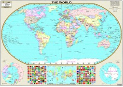 World Wall Map  (Laminated)