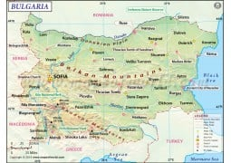 Bulgaria Map - Digital File