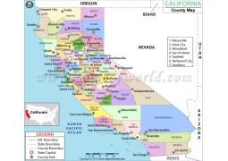 California County Map - Digital File