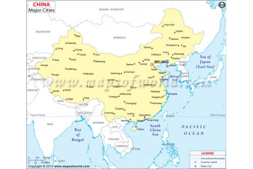 Buy China Map With Cities