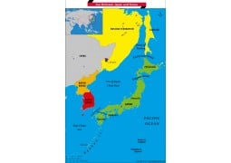 What is the name of the Sea between Japan and Korea?
