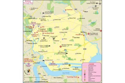 Newham Borough Map, London