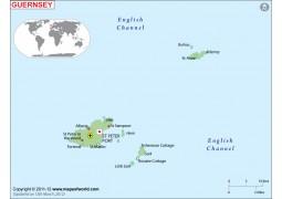 Guernsey Map - Digital File