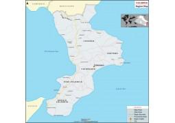Calabria Region Map - Digital File